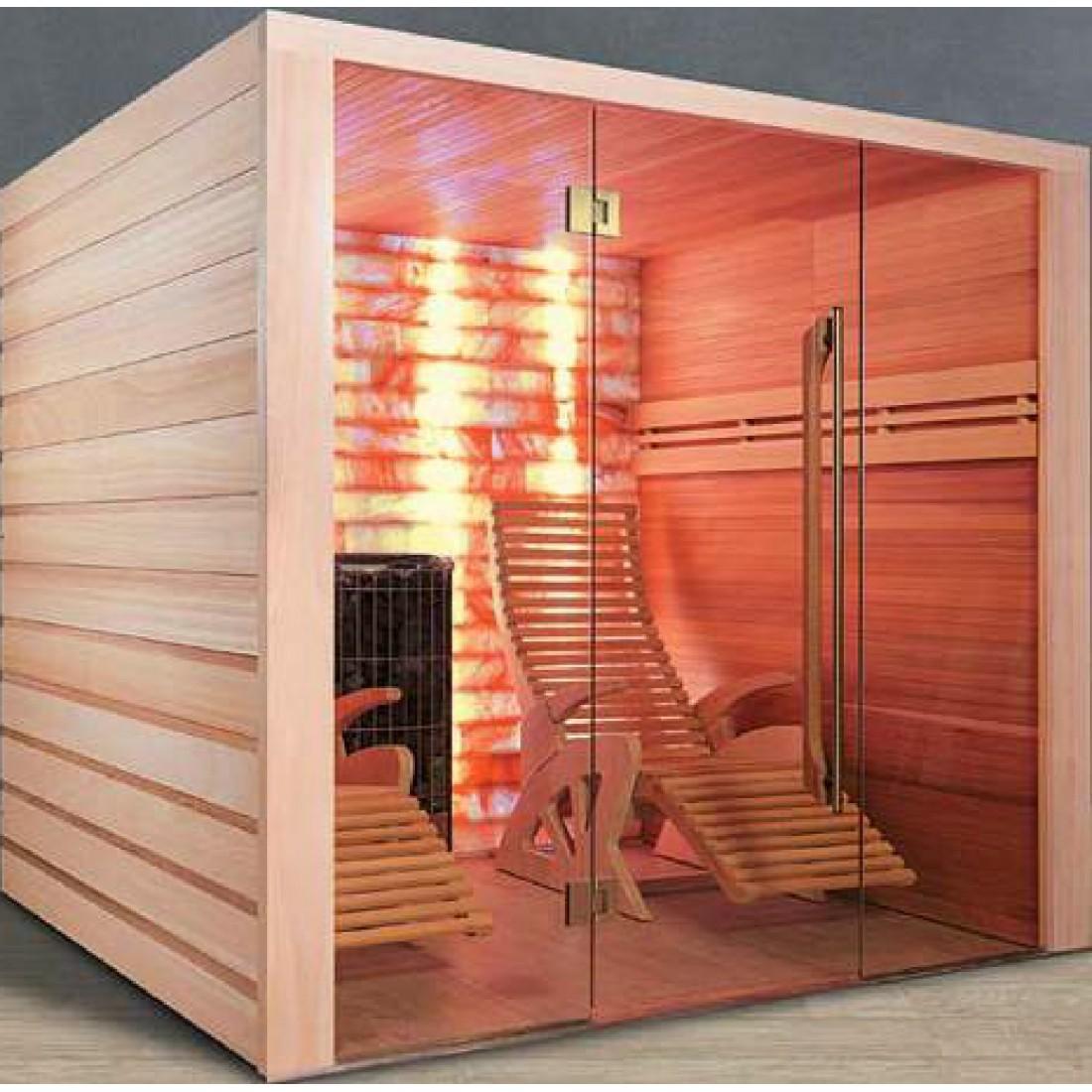 sauna alto sel avec mur de sel 2 places. Black Bedroom Furniture Sets. Home Design Ideas