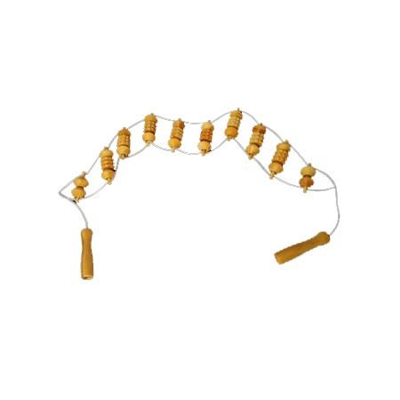 Wooden massage strap