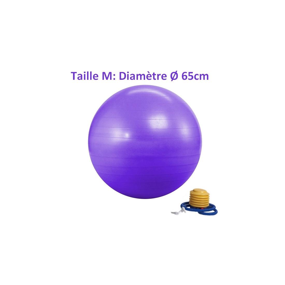 ballon de yoga / fitness taille m 65 cm