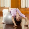 Ballon de Yoga / Fitness Taille L 75 cm Argent