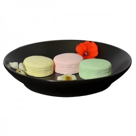 Diffuseur Plâtre à Parfumer Macaron et Soucoupe ronde