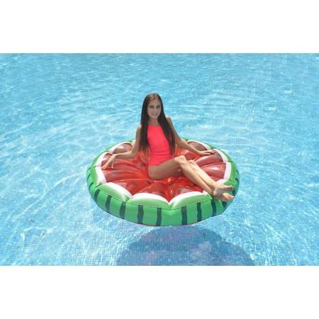 Bouée gonflable maxi matelas pastèque