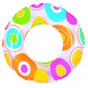 Bouée gonflable maxi donut chocolat