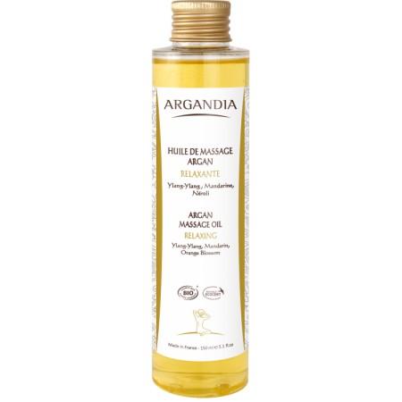 Huile de Massage Relaxante à L'Argan 150ml Bio
