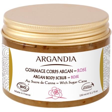 Gommage Corps Argan et Rose 150ml Bio