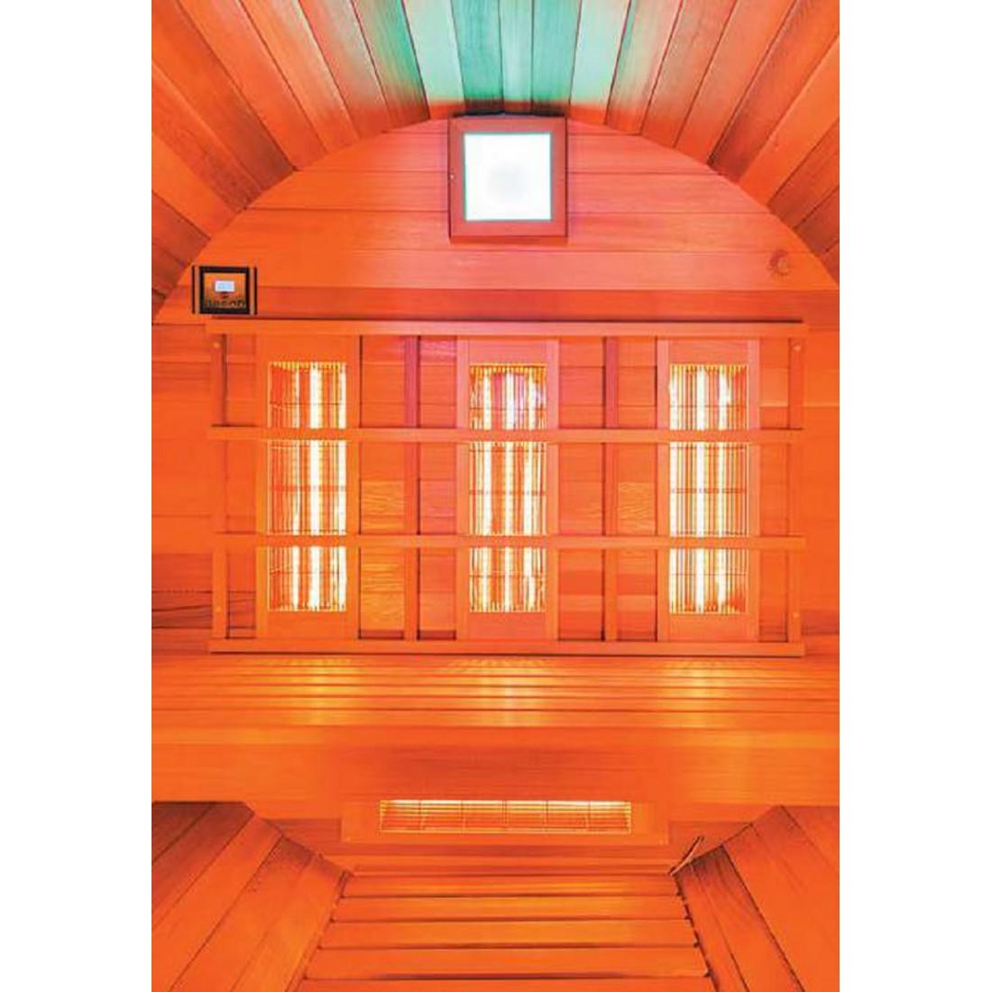 sauna infrarouge d 39 ext rieur 3 places. Black Bedroom Furniture Sets. Home Design Ideas