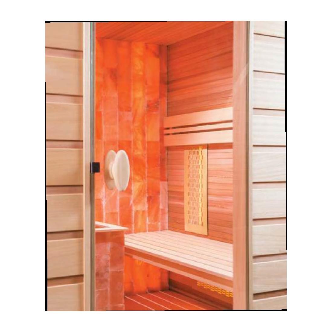 sauna combi sel 4 places. Black Bedroom Furniture Sets. Home Design Ideas